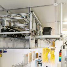 FlatStocker installation with 200 storage bins at Frauenhofer IMPS Dresden