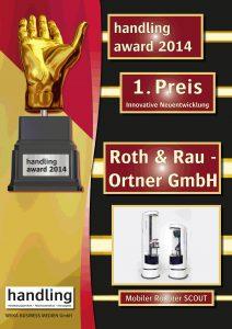 SCOUT gewinnt Handling Award 2014