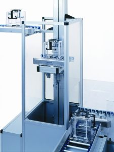 Cleanroom Conveyor System with lifts and turn tables