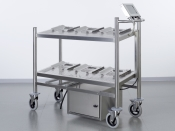 RFID Trolley with six places for manual transport in cleanrooms