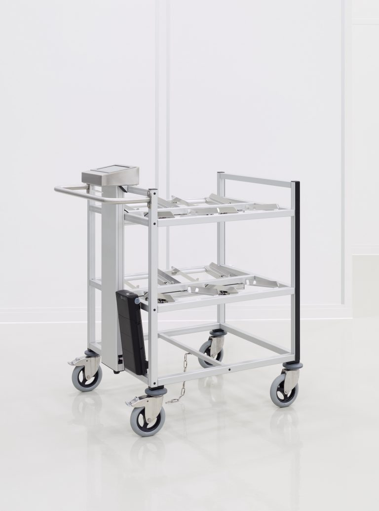 RFID trolley for the cleanroom
