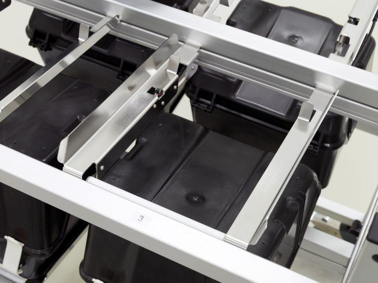 RFID trolley bin in detail