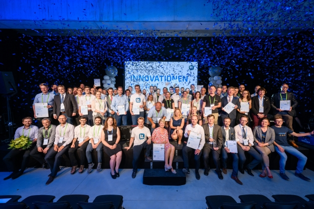 Group photo award winners and nominees of futureSAX competitions 2019