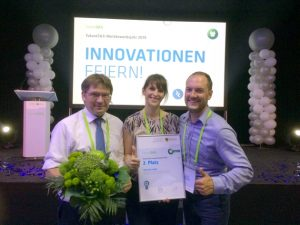 Photo second place with Roland Giesen, Kathrin Kammer and Martin