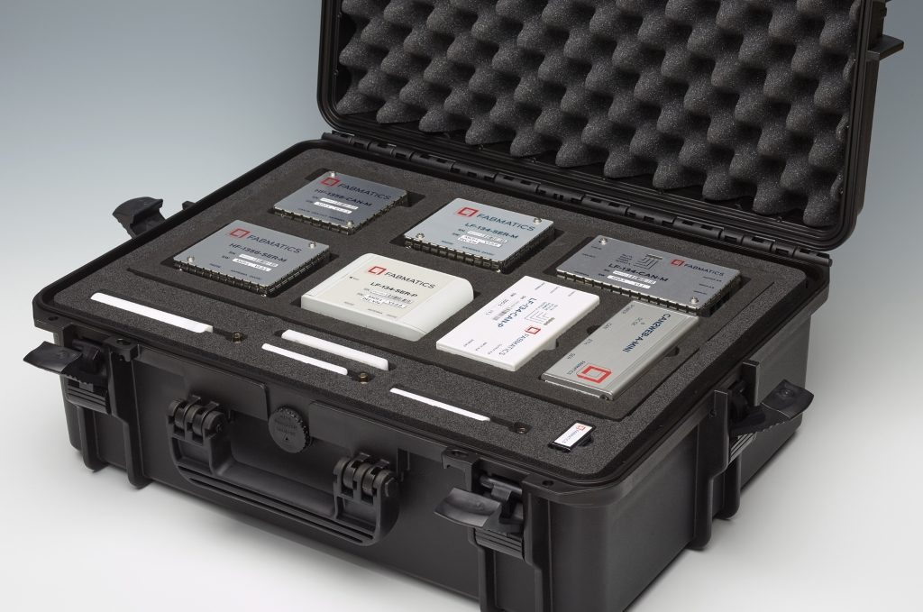 Case with LF and HF RFID readers and matching accessories