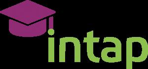 Logo von intap, das den Schriftzug intap neben einem Absolventenhut zeigt