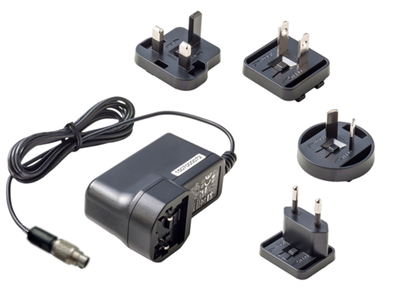 24V, 40W plug power supply with EU or US socket plug. Features a Binder 712 Series 2 pin connector for use with Fabmatics serial RFID Readers and CAN2WEB Mini.