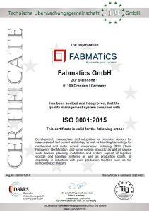 QM CERTIFICATE ISO9001-2015