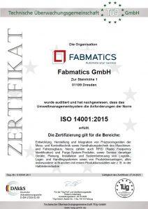 QM-ZERTIFIKAT ISO14001-2015