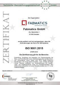 QM-ZERTIFIKAT ISO9001-2015